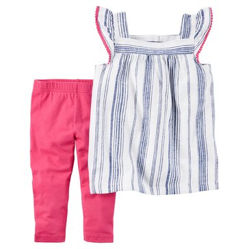 Carter's Toddler Girls' 2-Piece Linen Legging Set
