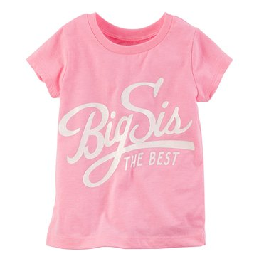 Carter's Toddler Girls' Big Sis Tee, Pink