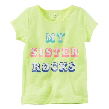 Carter's Toddler Girls' My Sister Rocks Tee, Yellow