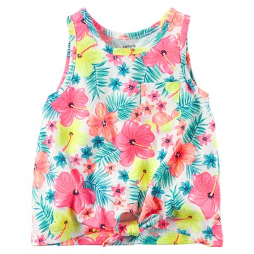 Carter's Toddler Girls' Flower Print Tiefront Tank