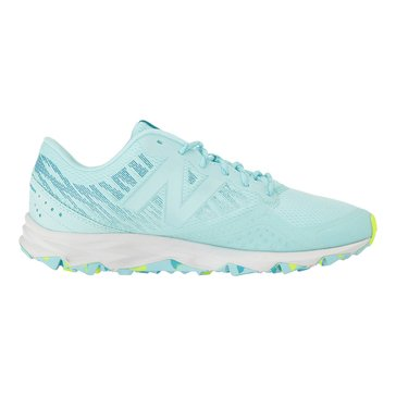 New Balance WT690RO2 Women's Trail Shoe Ozone Blue/ Glo/ Lime Glo