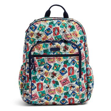 Vera Bradley Campus Tech Backpack Cuban Stamps