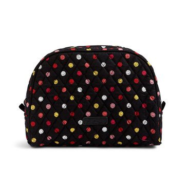 Vera Bradley Large Zip Cosmetic Bag Havana Dots