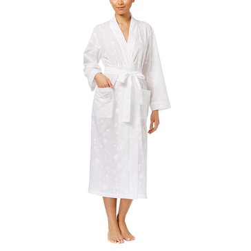 Charter Club Long Woven Robe Bright White