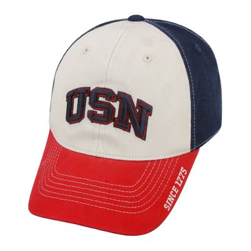 Top of The World  USN US Flag Washed Cotton Spandex Cap