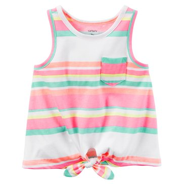 Carter's Toddler Girls' Stripe Tiefront Tank
