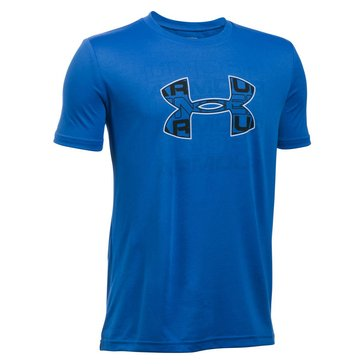 Under Armour Big Boys' Infusion Logo Tee, White Black