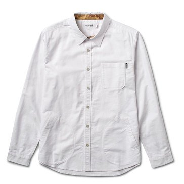 Diamond Supply Men's Field Oxford Long Sleeve Woven Shirt