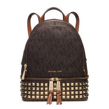 Michael Kors Rhea Zip Small Stud Backpack Brown