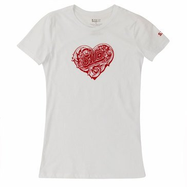 5.11 Women's Short Sleeve Crafted Heart Tee
