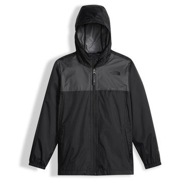 The North Face Big Boys' Zipline Rain Jacket, Black