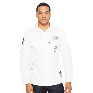 Huf Men's Scrawl BDU Button Down Long Sleeve Shirt