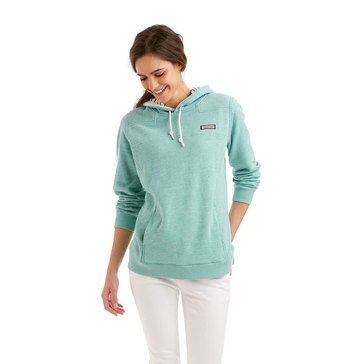 Vineyard Vines Slub Hoodie Shep Shirt Stripe Lining in Capri Blue