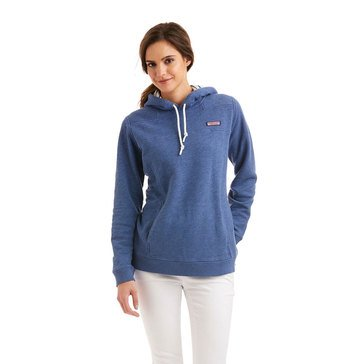 Vineyard Vines Slub Hoodie Shep Shirt Stripe Lining in Moonshine