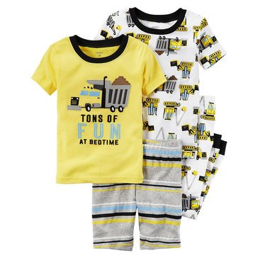Carter's Baby Boys' 4-Piece Cotton Sleepwear Set, Construction