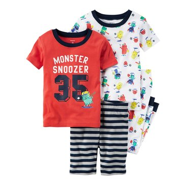 Carter's Baby Boys' 4-Piece Sleepwear Set, Monster Sport