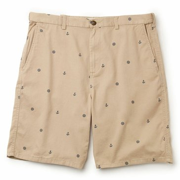 Cactus Anchor Print Adjustable Waist Shorts
