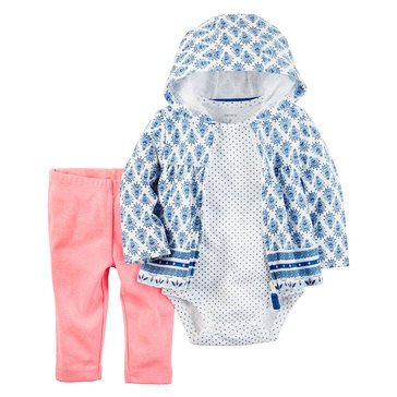Carter's Baby Girls' 3-Piece Cardigan Set, Geo Aztec