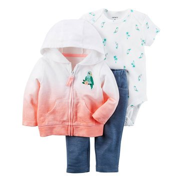 Carter's Baby Girls' 3-Piece Cardigan Set, Bird