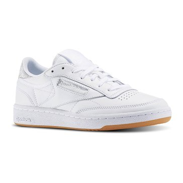 Reebok Club C 85 Women's Training Shoe Diamond White/ Gum