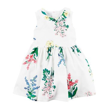 Carter's Baby Girls' Floral Bow Dress