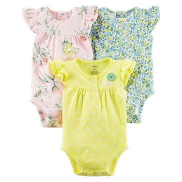 Carter's Baby Girls' 3-Pack Floral Bodysuits