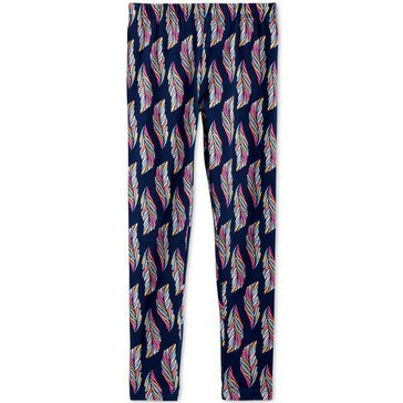 Epic Threads Little Girls' Feather Print Leggings, Blue