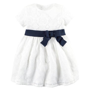 Carter's Baby Girls' Lace Contrast Dress