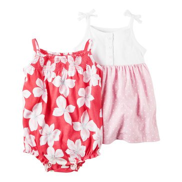 Carters' Baby Girls' 2-Pack Romper Set, Floral