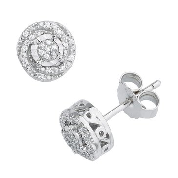 Special Purchase Sterling Silver 1/10 cttw Diamond Stud Earrings