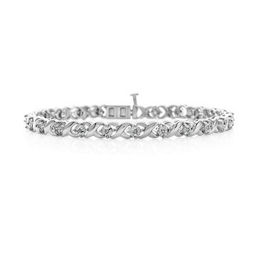 Sterling Silver 1/10 cttw Diamond