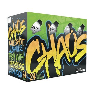 Wilson Chaos Assorted Color Golf Balls, 24-Pack