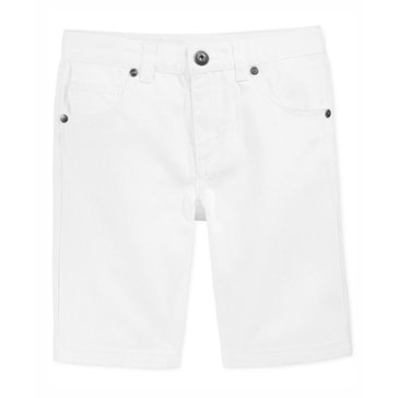 Epic Threads Little Boys' Clean Edge Denim Shrt, White Wash