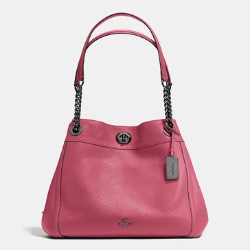 Coach Pebble Turnlock Edie Shoulder Bag Rogue