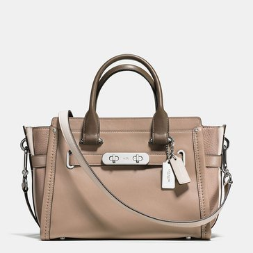 Coach Colorblock Swagger 27 Satchel Stone