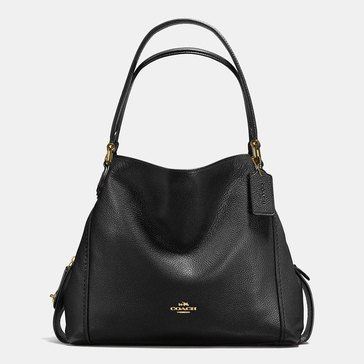 Coach Pebble Edie 31 Shoulder Bag Black