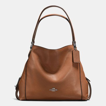 Coach Pebble Edie 31 Shoulder Bag Saddle