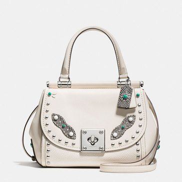 Coach Western Rivet Drifter Top Handle Carryall Chalk