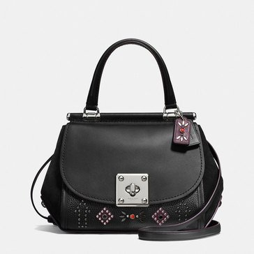 Coach Western Rivet Drifter Top Handle Carryall Black