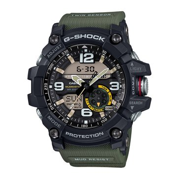 Casio G-Shock Men's MudMaster Watch GG1000-1A3, Black/Green 55.3mm