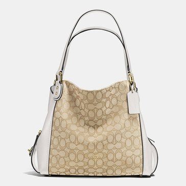 Coach Signature Edie 31 Shoulder Bag Light Khaki/ Chalk