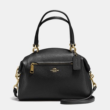Coach Pebble Prairie Satchel Black