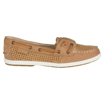 Sperry Top-Sider Coil Ivy Perforated Women's Boat Shoe Linen/Oat