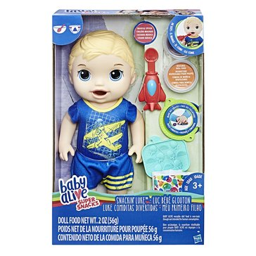 Baby Alive Snackin' Boy Doll, Blonde