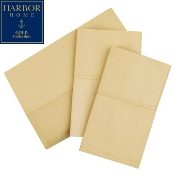 Harbor Home Gold Collection 300 Thread-Count Sheet Set, Straw - Twin