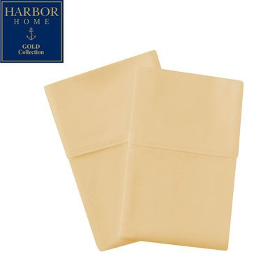 Harbor Home Gold Collection 300 Thread-Count Pillowcase, Straw - Standard