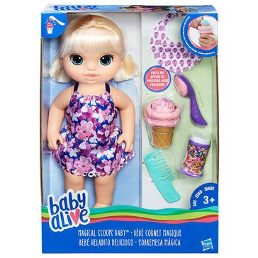 Baby Alive Magical Scoops Baby, Blonde