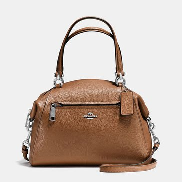 Coach Pebble Prairie Satchel Saddle