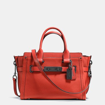 Coach Pebble Swagger 27 Deep Coral