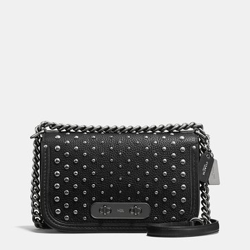 Coach Ombre Rivet Swagger Shoulder Bag Black